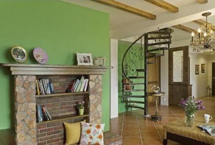 美式田园温馨的两居室客厅