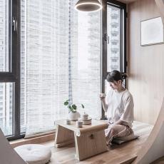 日式简洁,和蔼女幼师的家,安静自然好文雅13559689
