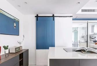 清新北欧三室 相当和谐的蓝与绿。