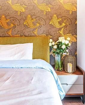 130平米的三居室,中式风格卧室1图中式现代设计图片赏析