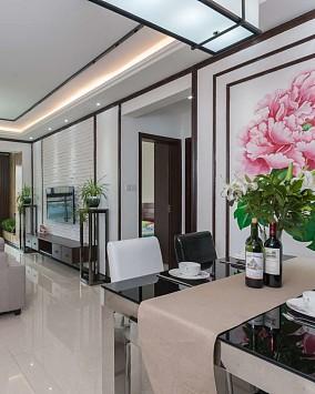 86平新中式格调美客厅中式现代设计图片赏析