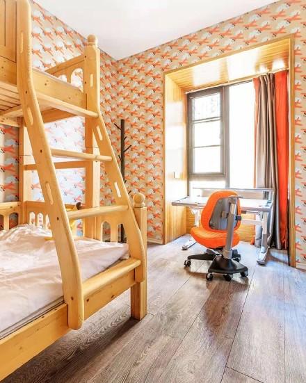 130平米的三居室,中式风格卧室2图