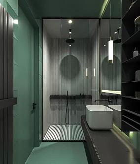 现代简约风,每个空间设计的都很赞!卫生间1图中式现代设计图片赏析