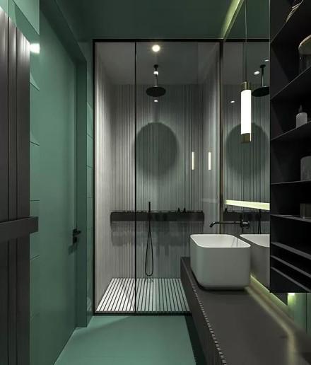 现代简约风,每个空间设计的都很赞!卫生间1图