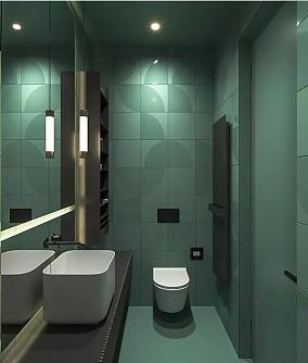 现代简约风,每个空间设计的都很赞!卫生间3图中式现代设计图片赏析