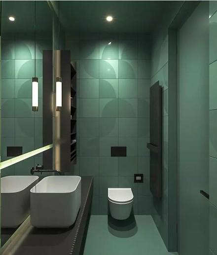 现代简约风,每个空间设计的都很赞!卫生间3图