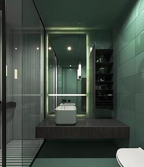现代简约风,每个空间设计的都很赞!卫生间2图中式现代设计图片赏析