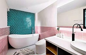 175平米的五居室,简约风格卫生间1图现代简约设计图片赏析