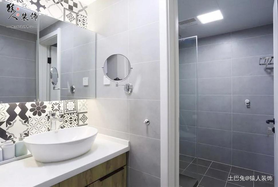 98㎡北欧风格儿童房装修太赞了!卫生间北欧极简卫生间设计图片赏析