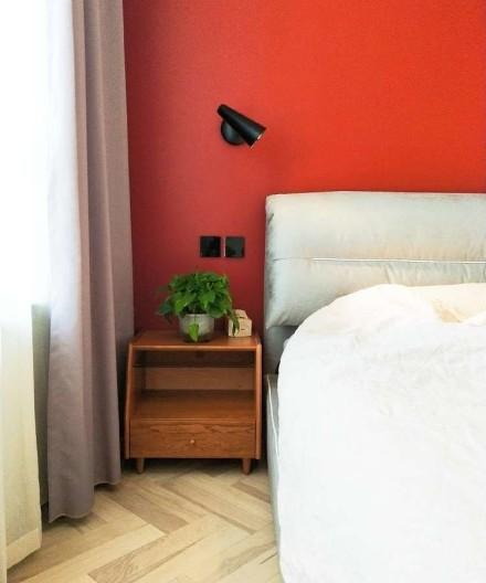 80平米三居室北欧极简风卧室2图