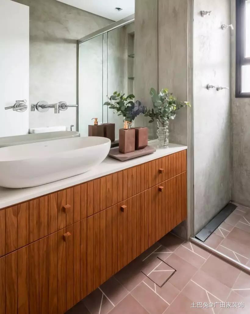 70㎡开放式厨房餐桌放阳台真宽敞!卫生间现代简约卫生间设计图片赏析
