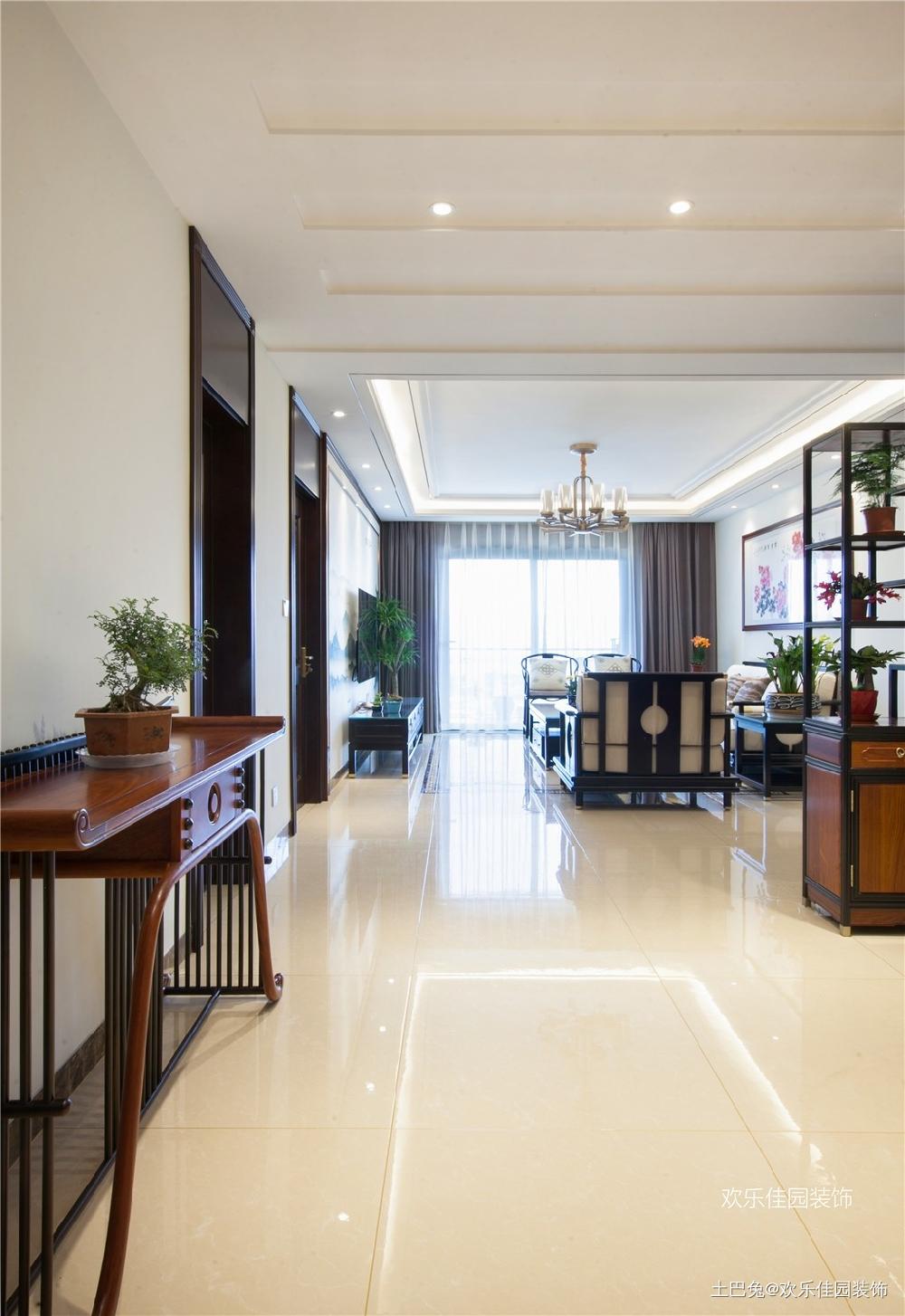 180平中式空间两套打通秒变大房子玄关中式现代玄关设计图片赏析