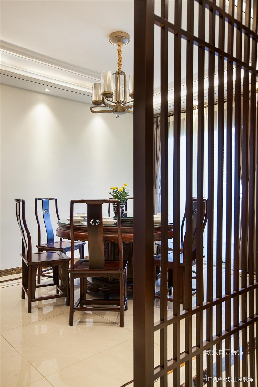 180平中式空间两套打通秒变大房子厨房中式现代餐厅设计图片赏析