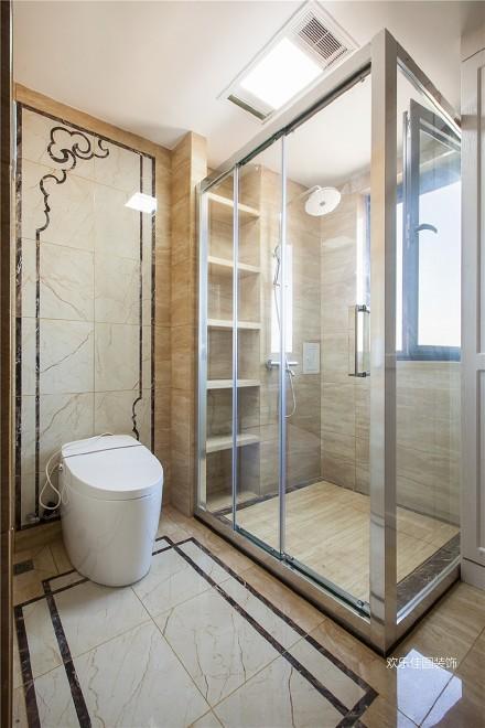 180平中式空间,两套打通秒变大房子卫生间