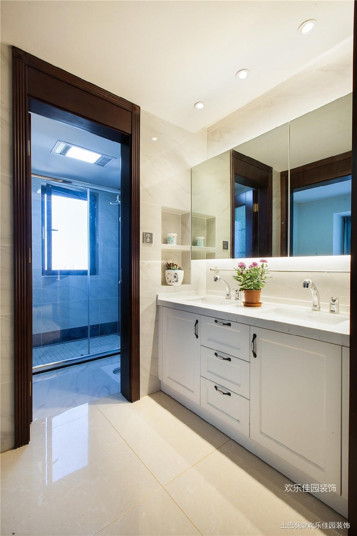 180平中式空间两套打通秒变大房子卫生间中式现代卫生间设计图片赏析