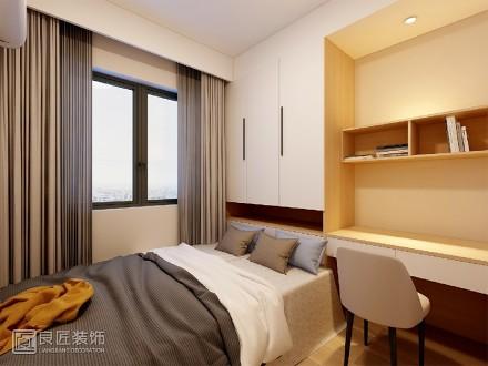85㎡现代三居室,一个被阳光特别关照的家卧室