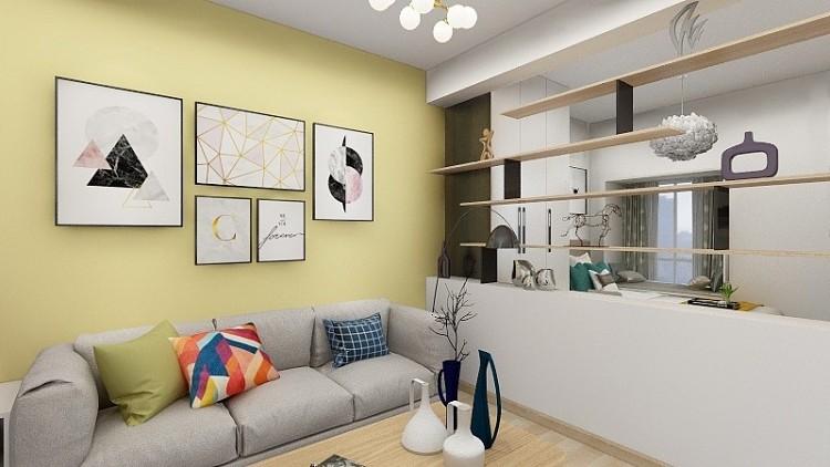 60平两居室全包现代简约风