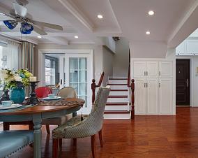 121平顶楼复式老房变形记+美式混搭厨房潮流混搭设计图片赏析