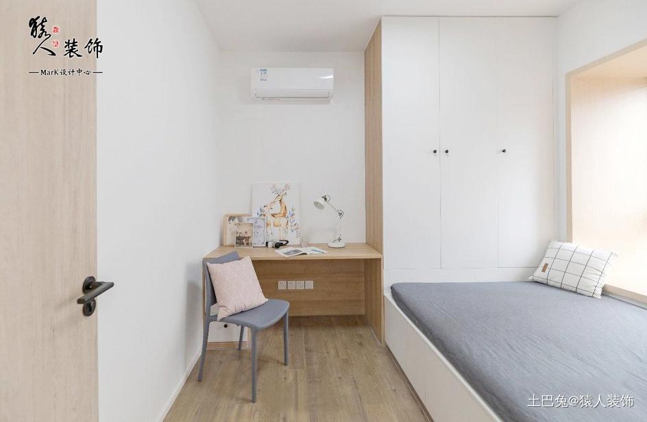 117㎡日式3居电视背景墙太实用了!卧室日式卧室设计图片赏析