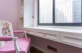 155平米的三居室,美式风格卧室美式经典设计图片赏析
