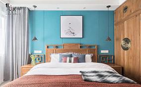 140㎡高级灰遇上新中式的完美演绎卧室中式现代设计图片赏析