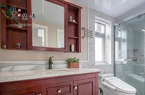 用心装了客厅和过道,105㎡超显大卫生间美式经典设计图片赏析