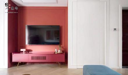 120㎡复古简欧风,打造个性鲜明的家!客厅