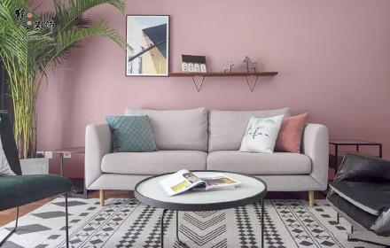 141平色彩北欧三室精装房软装改造客厅