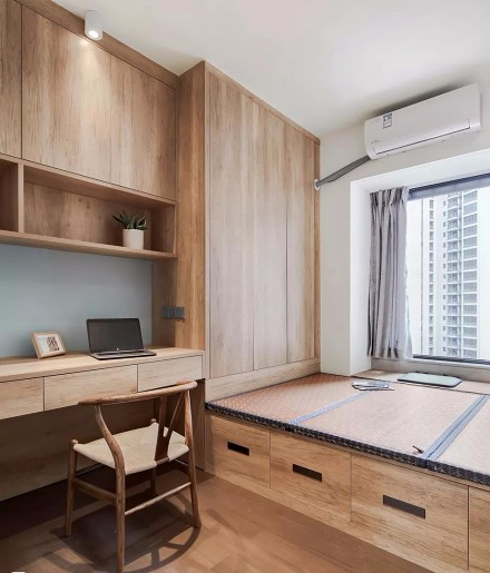 南园新村简洁舒适现代简约的家卧室
