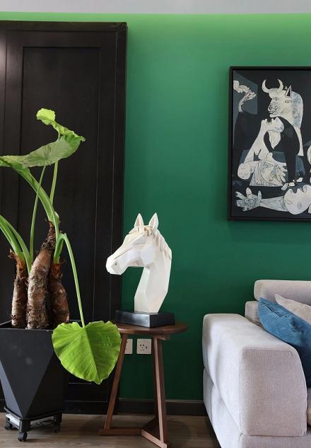120m²现代简约三室,壁挂床秒变瑜伽室客厅