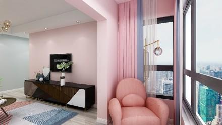 75平七里小区小资生活享受惬意的时光客厅