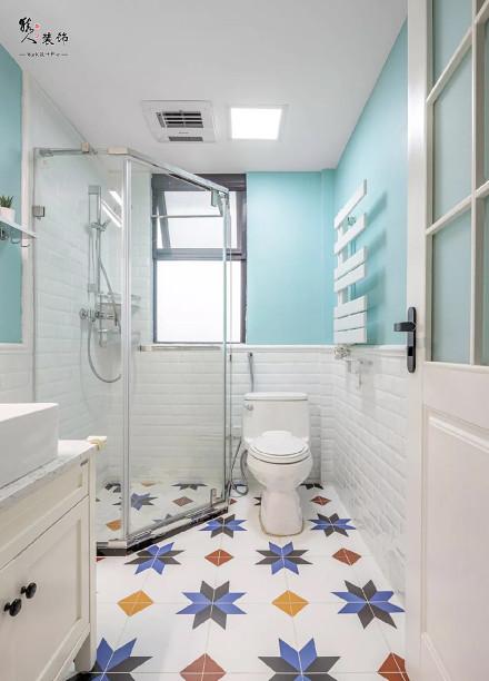 120平田园美式三室卫生间