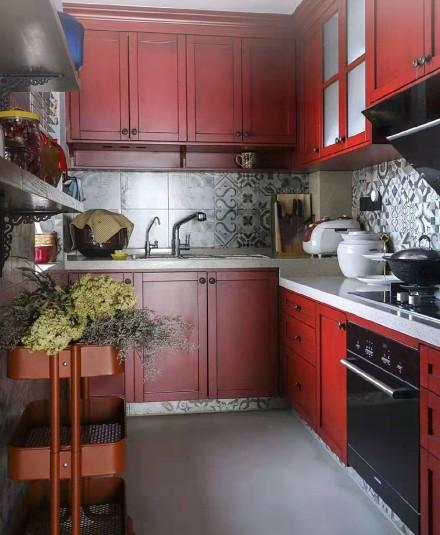 127平米的三居室,混搭风格餐厅