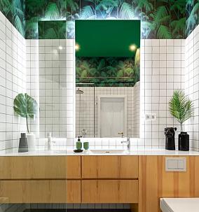 61㎡的LOFT设计好看又省空间卫生间其他设计图片赏析