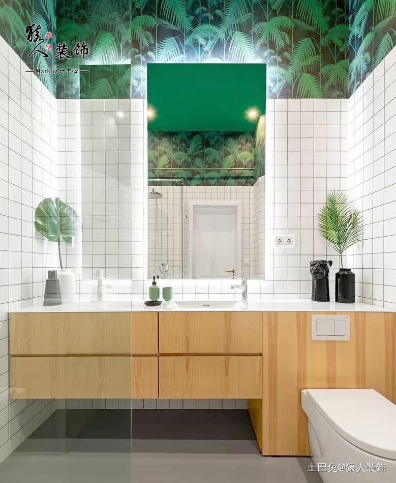 61㎡的复式卧室这样好看又省空间卫生间洗漱台北欧极简卫生间设计图片赏析