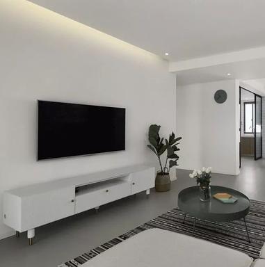 简约风三居室,电视背景墙莫过大白墙