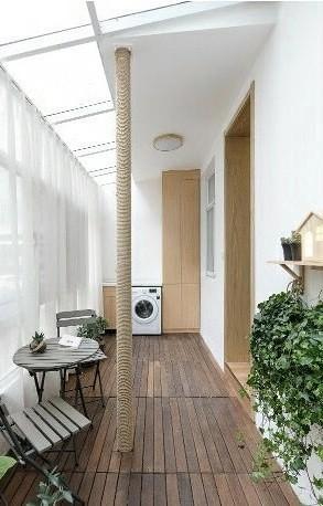 78㎡二手改造房,清新原木风,休闲舒适阳台