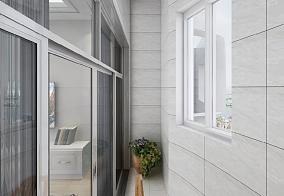 简美三室,实用又精致,值得借鉴阳台美式经典设计图片赏析