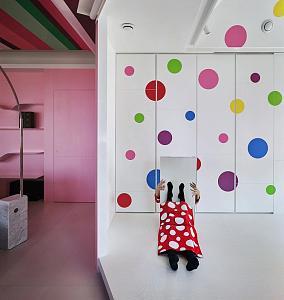 140㎡少女心超粉嫩的房子!客厅潮流混搭设计图片赏析