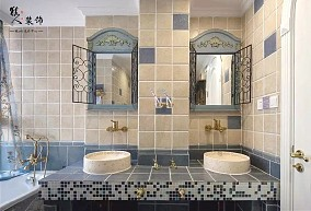 135㎡三居室,享受浪漫海边风情!卫生间地中海设计图片赏析