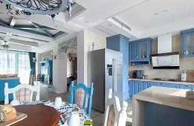 135㎡三居室,享受浪漫海边风情!厨房地中海设计图片赏析