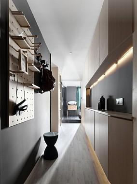 60平简约原木风小居室玄关其他设计图片赏析