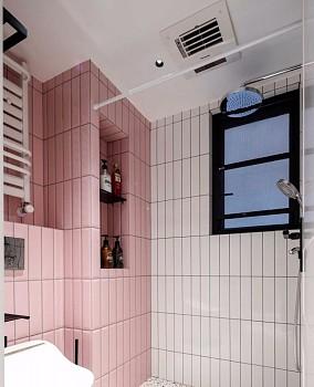 120㎡四居室潮流混搭风卫生间潮流混搭设计图片赏析