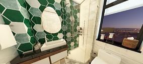114平米现代轻奢风卫生间其他设计图片赏析