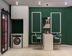 60平撞色公寓色彩斑斓随处可见厨房潮流混搭设计图片赏析