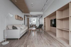 120㎡原木色轻盈舒适而美好客厅其他设计图片赏析