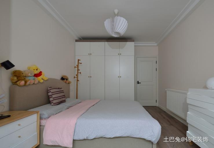 51平米一室户北欧风格卧室北欧极简卧室设计图片赏析