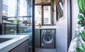 130㎡三室二厅中式风格阳台中式现代设计图片赏析