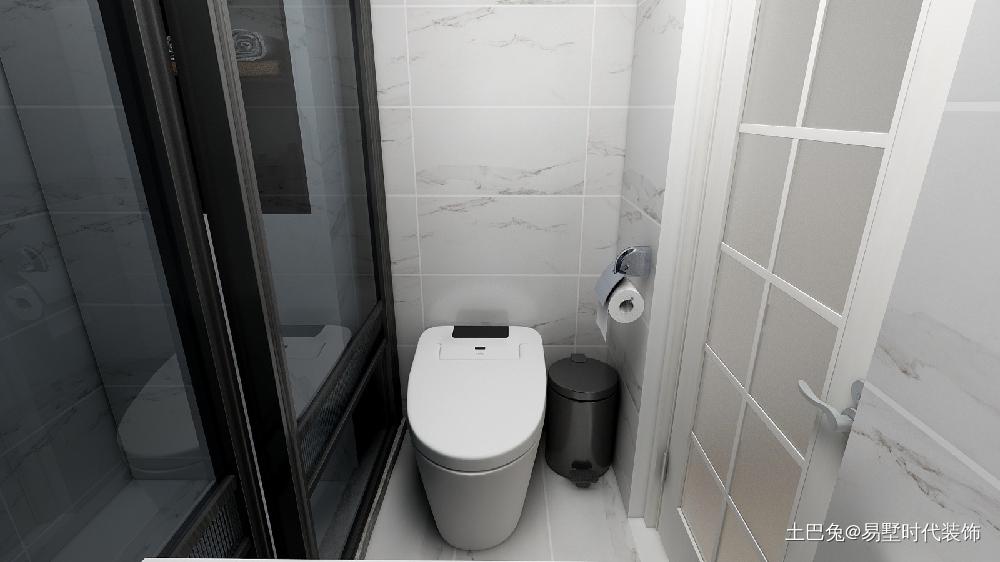 51平米小户型简约一居室!卫生间现代简约卫生间设计图片赏析