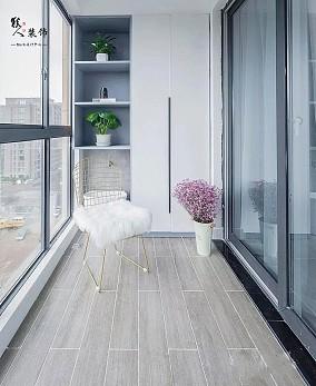87平北欧三居室,全屋太清爽漂亮了!阳台北欧极简设计图片赏析